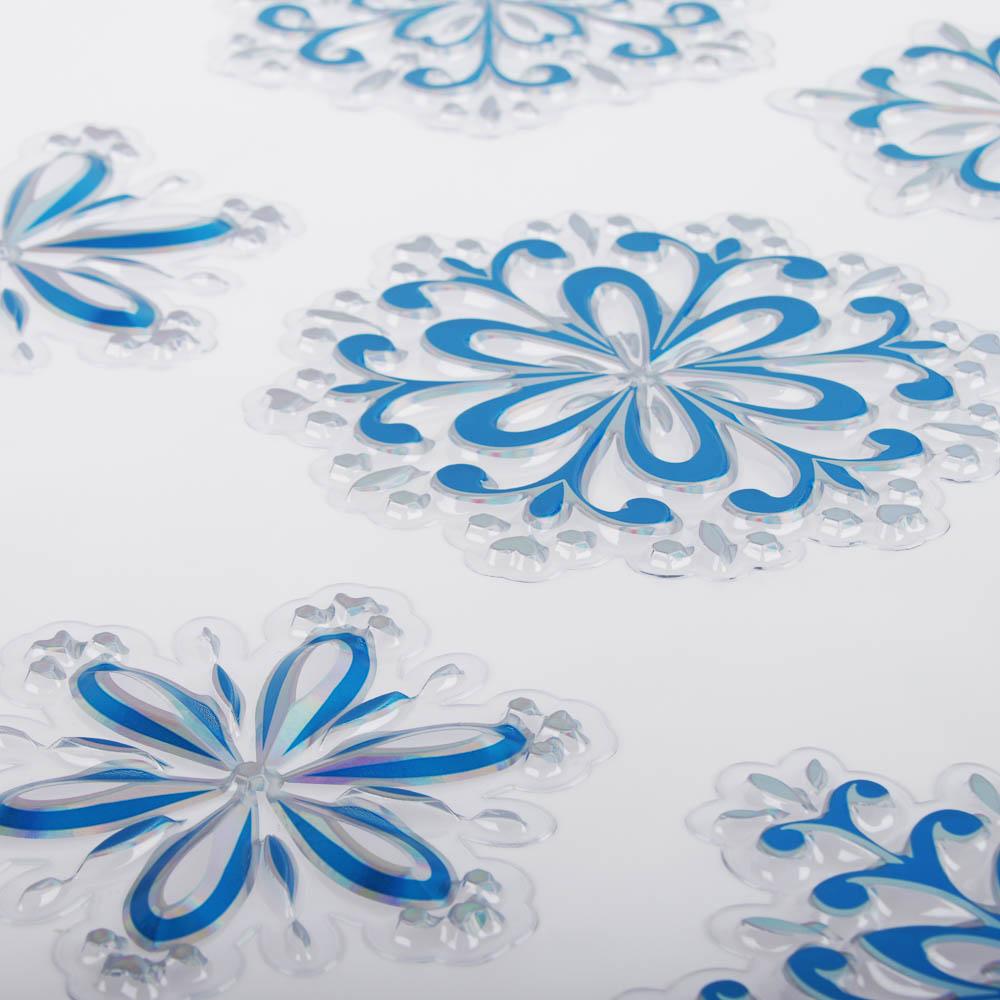 Новогодние наклейки СНОУ БУМ ПВХ 3D 30х39 см, 3 дизайна