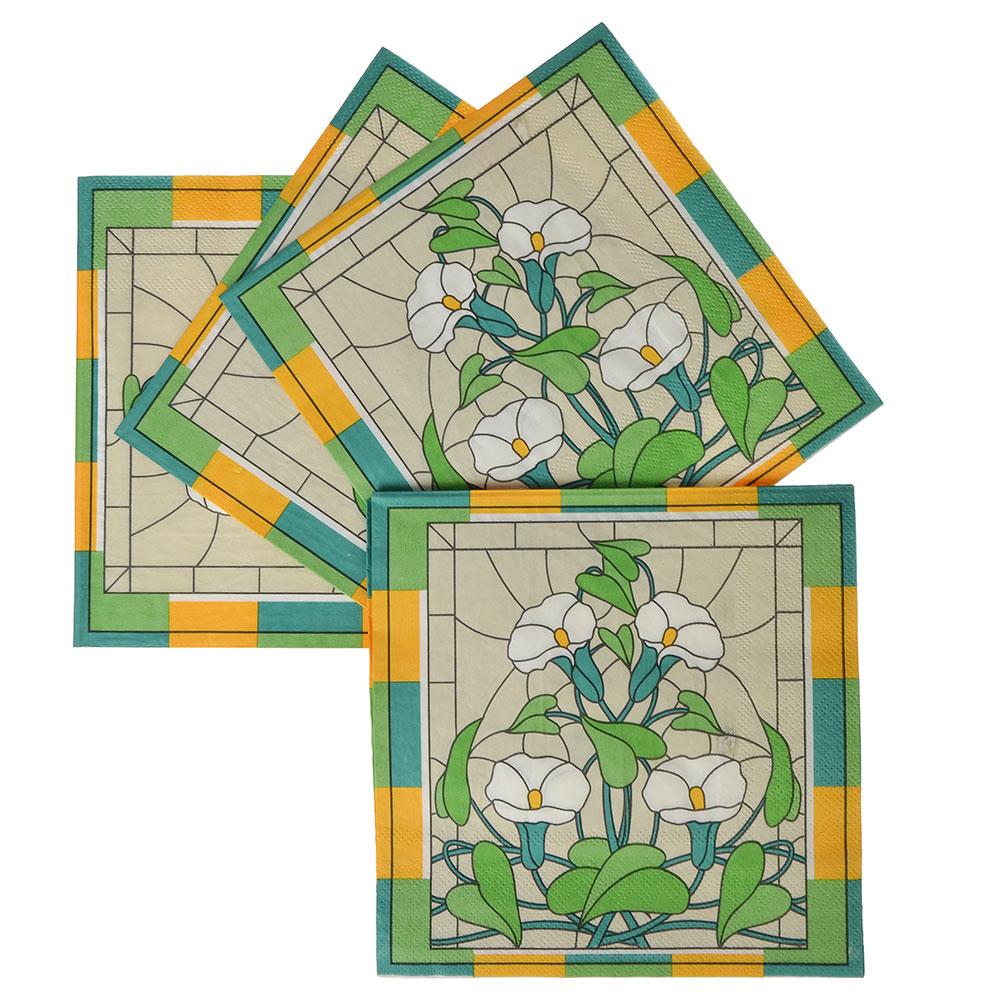 Салфетки бумажные, 12шт, 33х33см, GC Design, Витражи