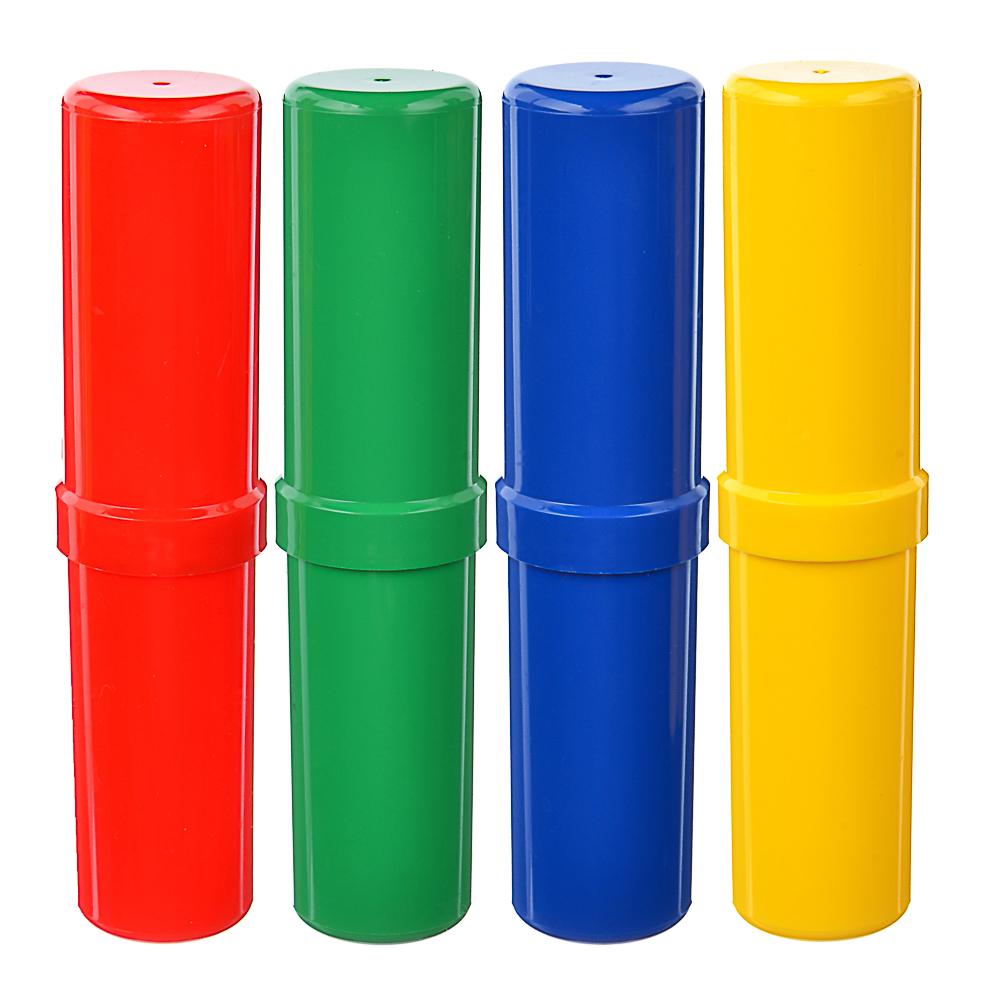 Пенал школьный тубус 17,5х4х4см, 4 цвета