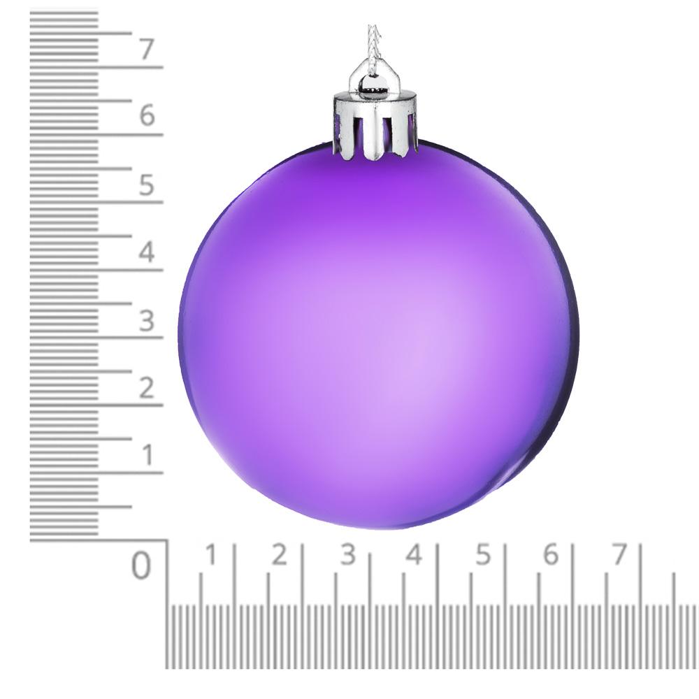 Елочные шары набор СНОУ БУМ 6шт, 6см, пластик, в пакете, ассортимент цветов, глянец