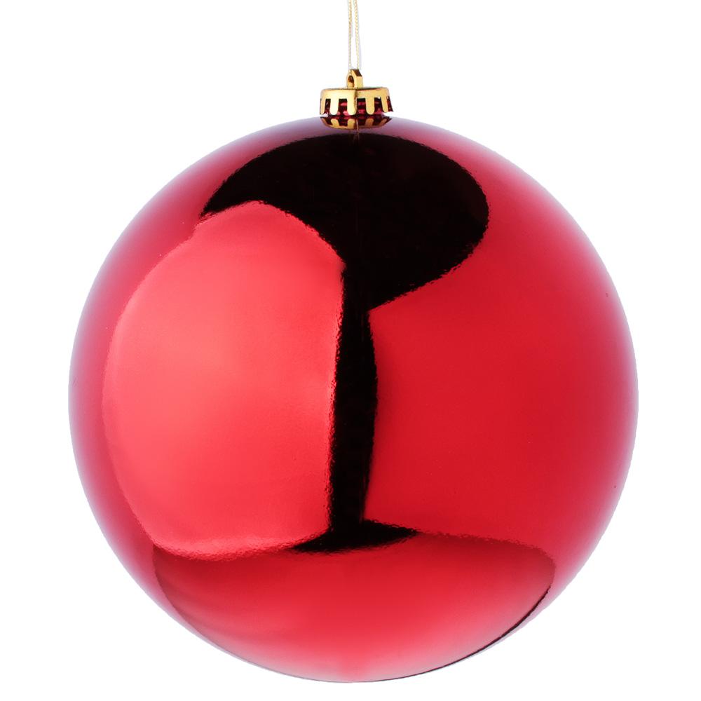 Елочный шар СНОУ БУМ 20 см, пластик, 1 шт, в пакете, красный