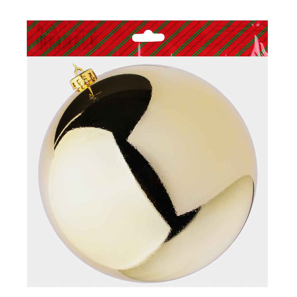 Елочный шар СНОУ БУМ 20 см, пластик, 1 шт, в пакете, золото