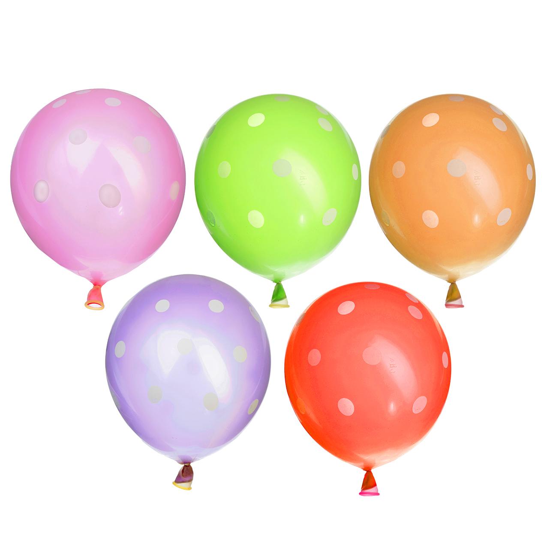 """Шары воздушные с рисунком, 5 шт, резина, 12"""", 5 цветов, """"Шар внутри шара"""""""
