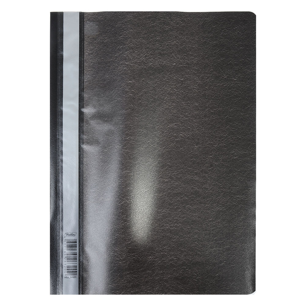 Папка-скоросшиватель A4, пластик, 120/180 мкм, черная