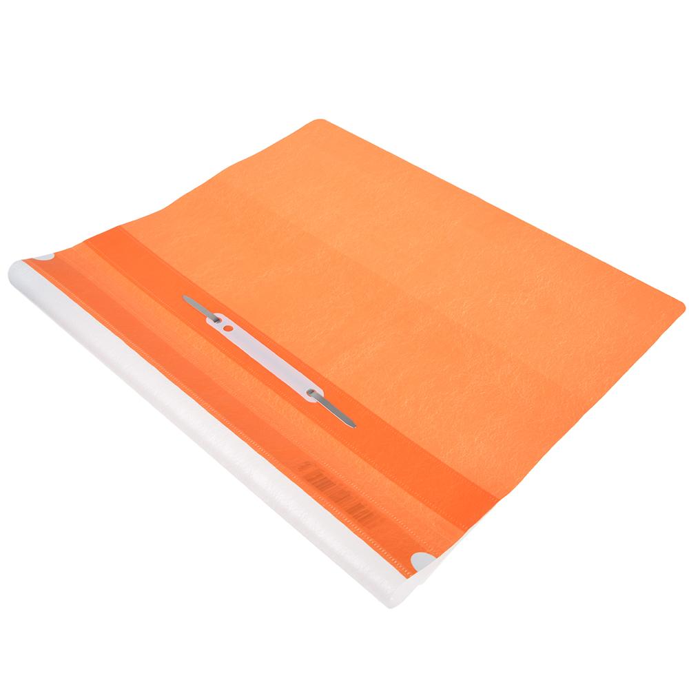 Папка-скоросшиватель A4, пластик, 120/180 мкм, оранжевая