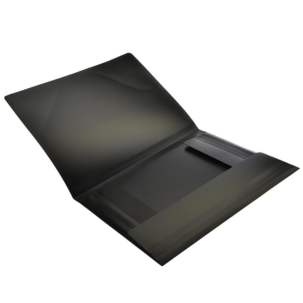 Папка A4 с резинкой 450мкм, черная, EDC202-06