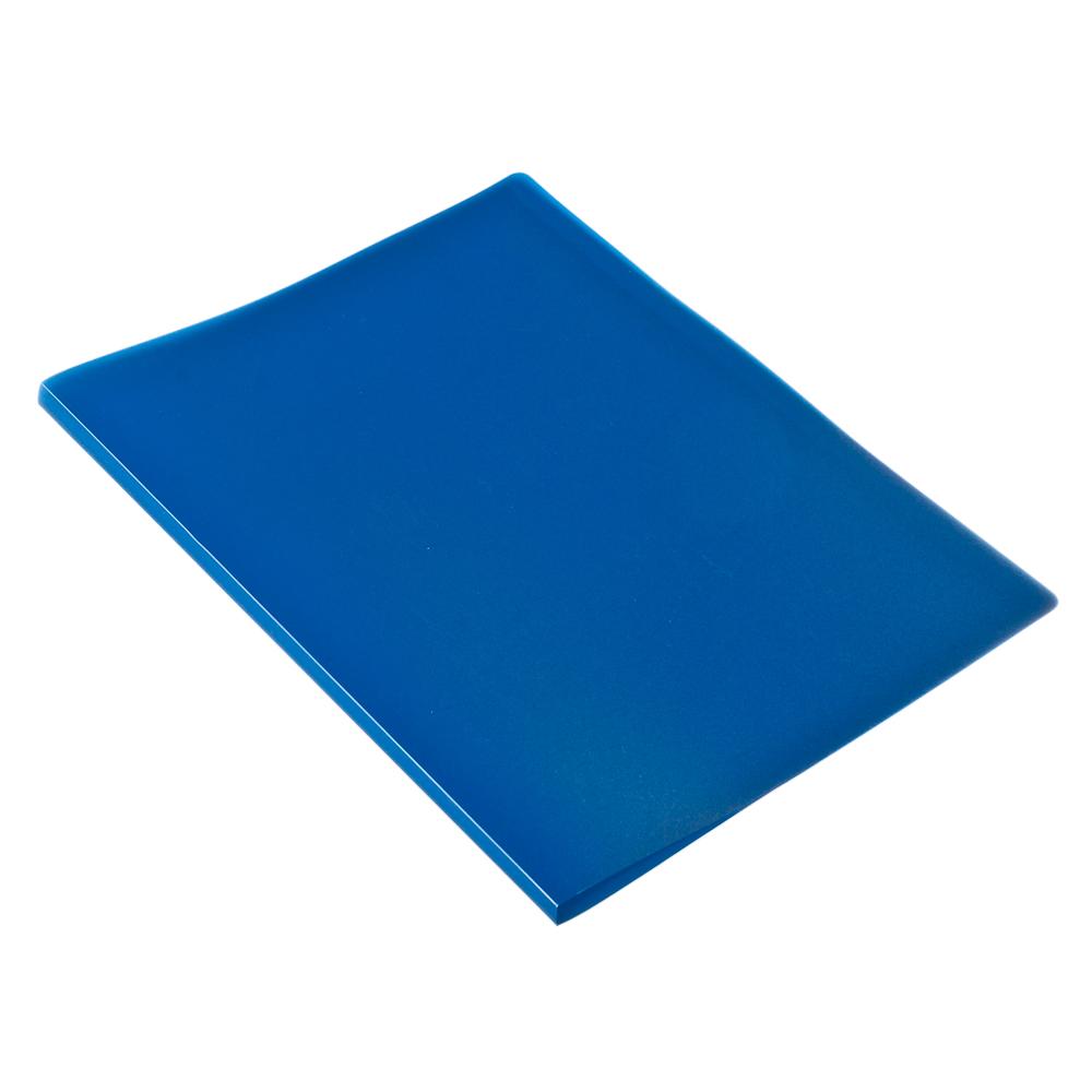 Папка A4 с 10 вкладышами 350мкм, вкладыши 40мкм, синяя, I-10-04