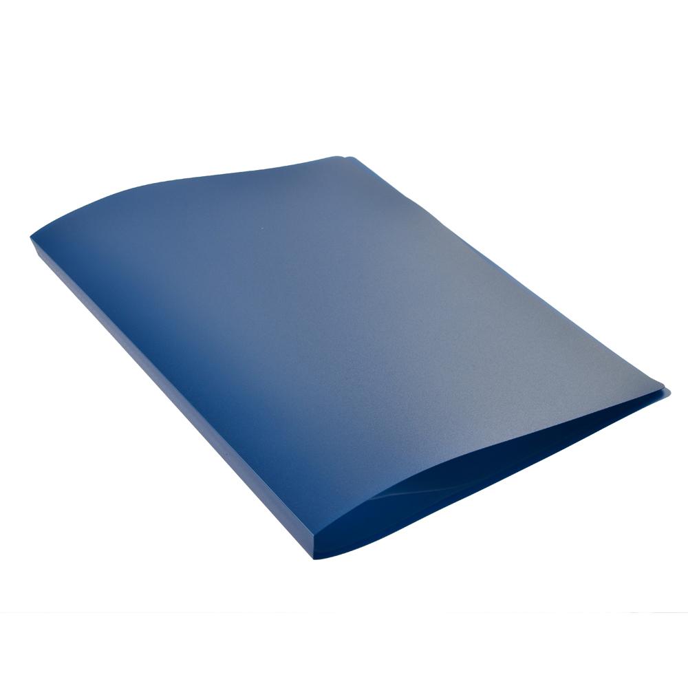 Папка A4 с 20 вкладышами 350мкм, вкладыши 40мкм, синяя, I-20-04