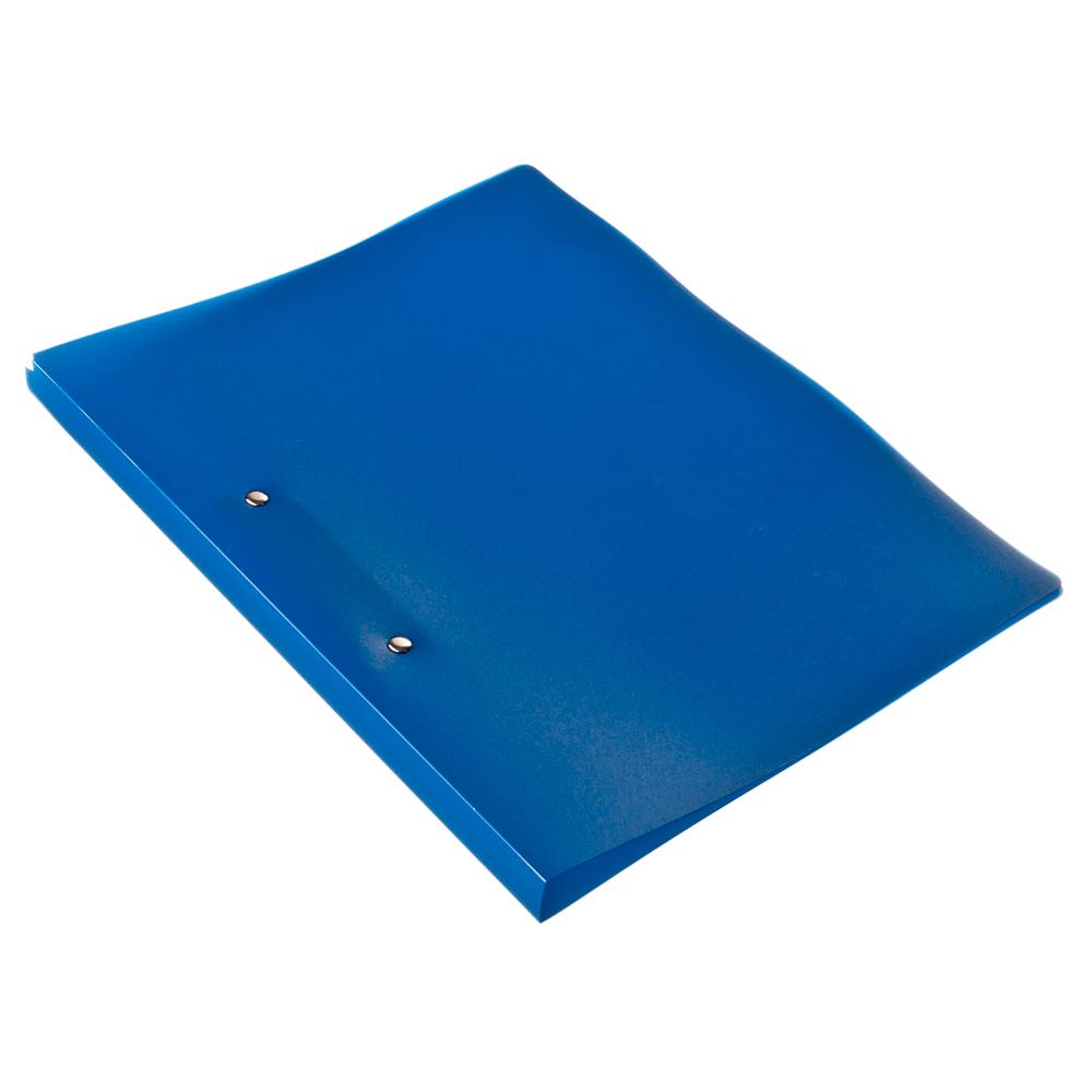 Папка A4 с боковым прижимом 350мкм, синяя, I-901-04