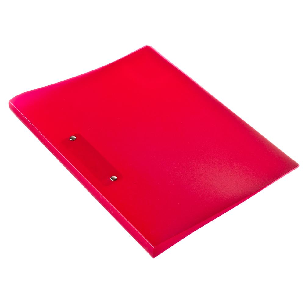 Папка A4 с боковым прижимом 350мкм, красная, I-901-01