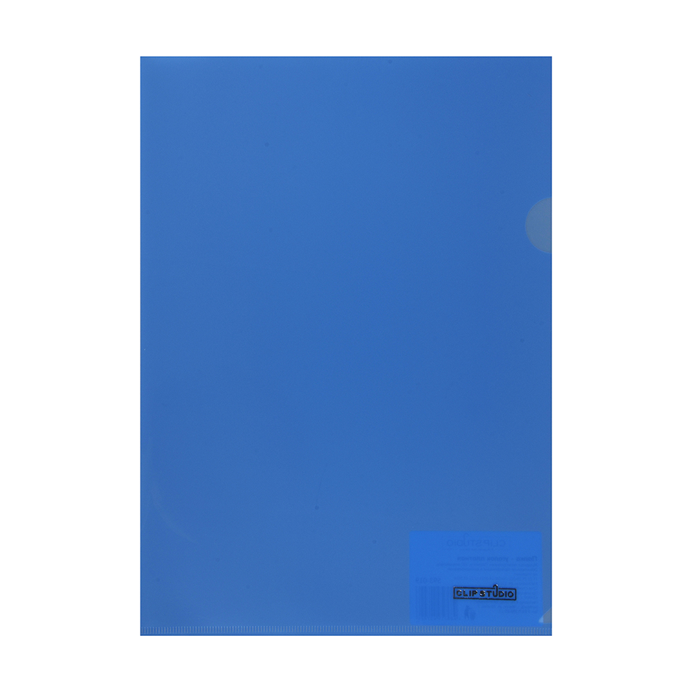 Папка-уголок ClipStudio A4 прозрачная, 4 цвета