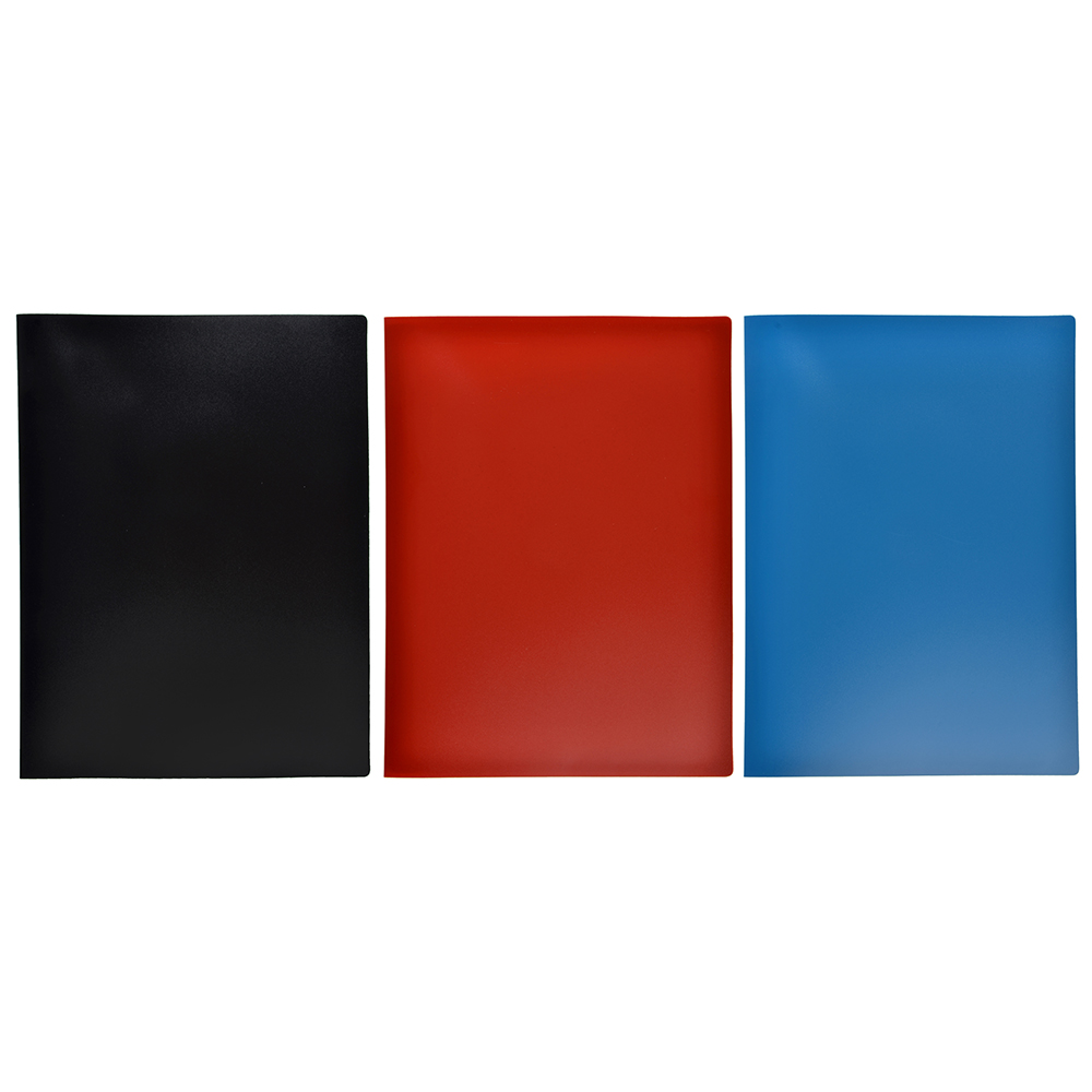 Папка файловая на 10 файлов, корешок 15 мм, 3 цвета, ClipStudio