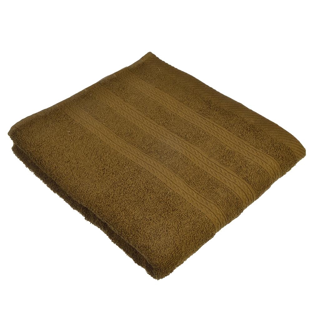 Полотенце для лица махровое, хлопок, 50х90см, коричневое, VETTA