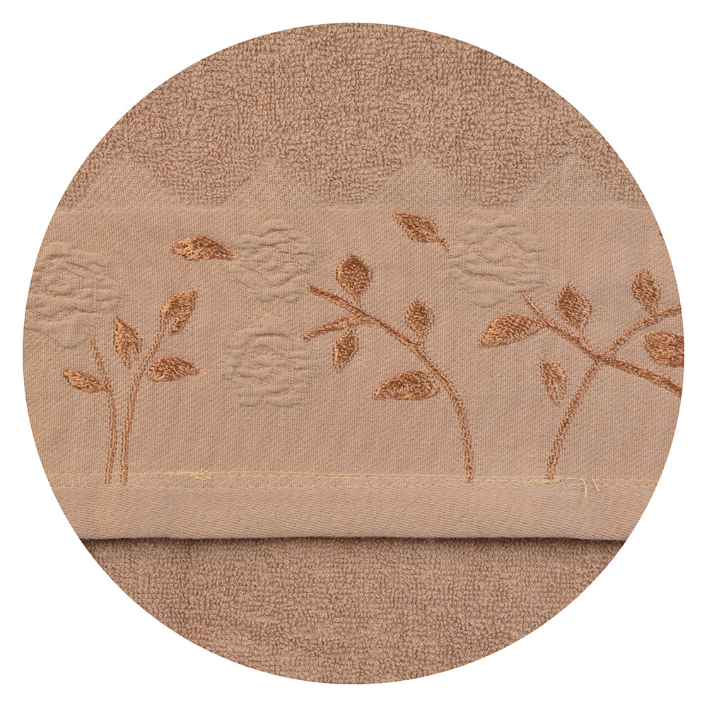 Полотенце для лица махровое бежевое VETTA 50х90см
