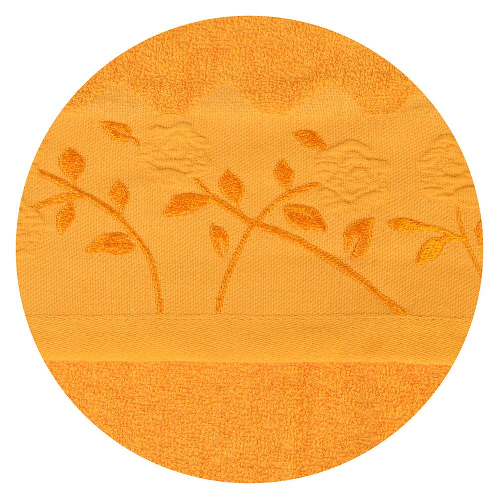 Полотенце для лица махровое, хлопок, 50х90см, оранжевое, VETTA