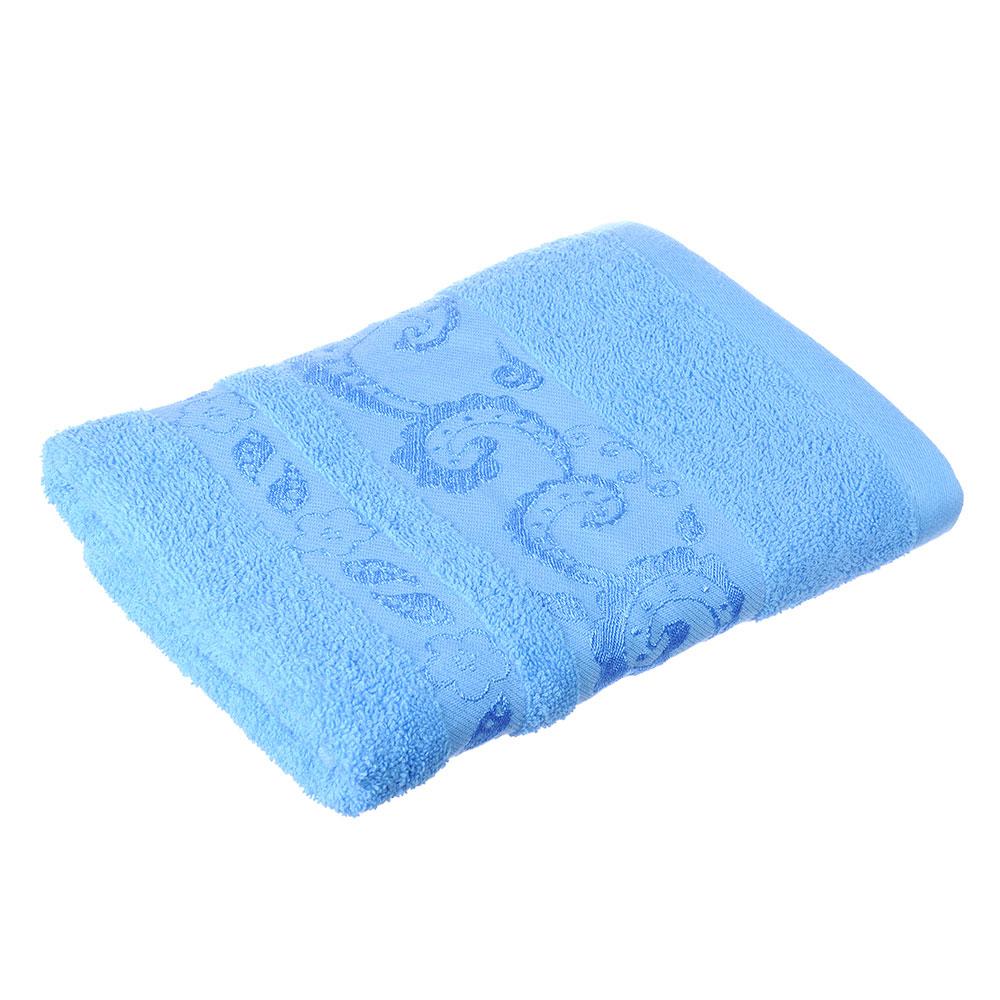 Полотенце для лица махровое, хлопок, 50х90см, голубое, VETTA