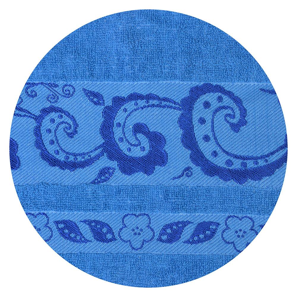 Полотенце для лица махровое, хлопок, 50х90см, синее, VETTA