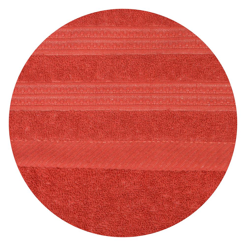 Полотенце банное махровое красное, 70х140см, VETTA