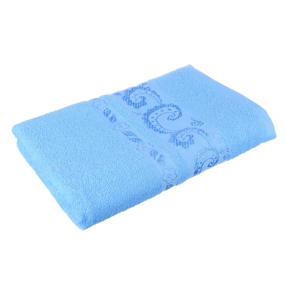 Полотенце банное махровое голубое, 70х140см, VETTA