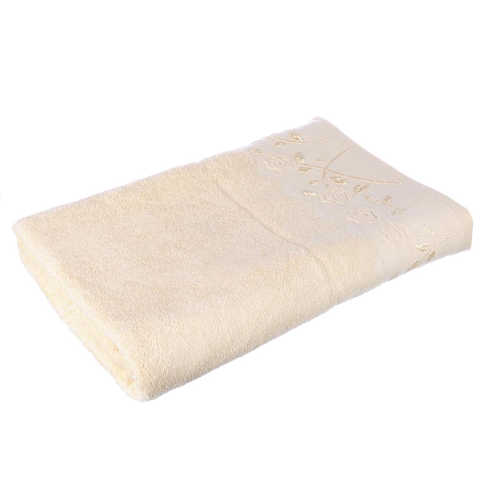Полотенце банное махровое бежевое, 70х140см, VETTA
