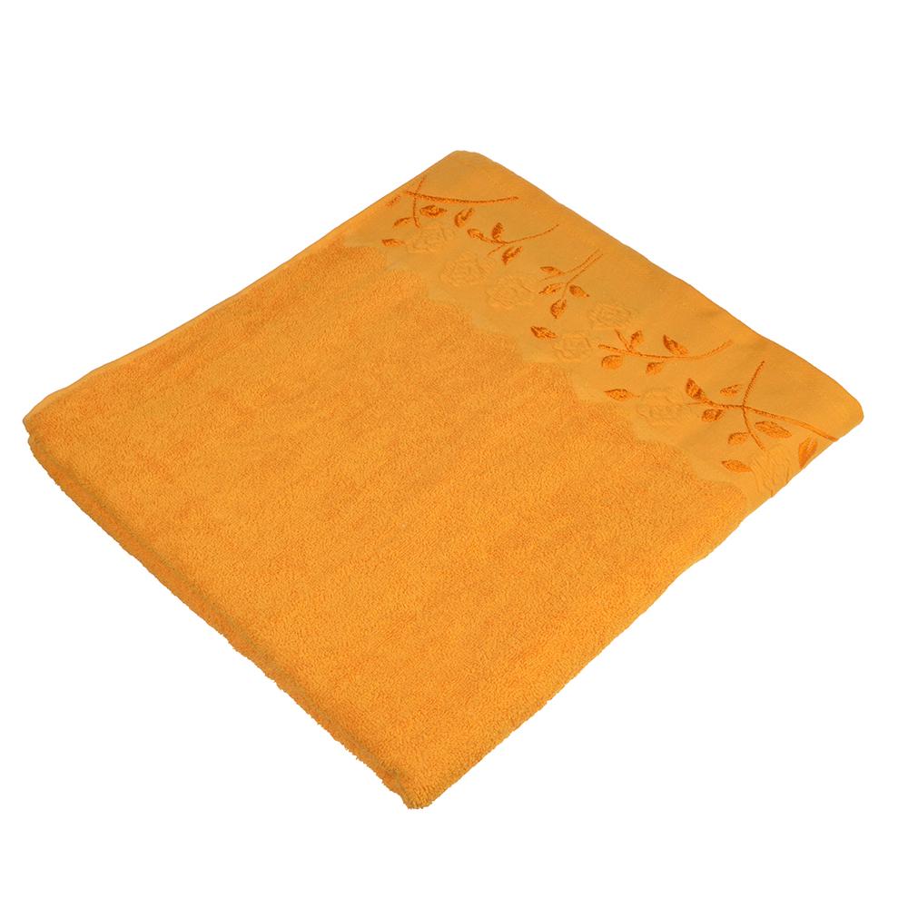 Полотенце банное махровое оранжевое, 70х140см, VETTA