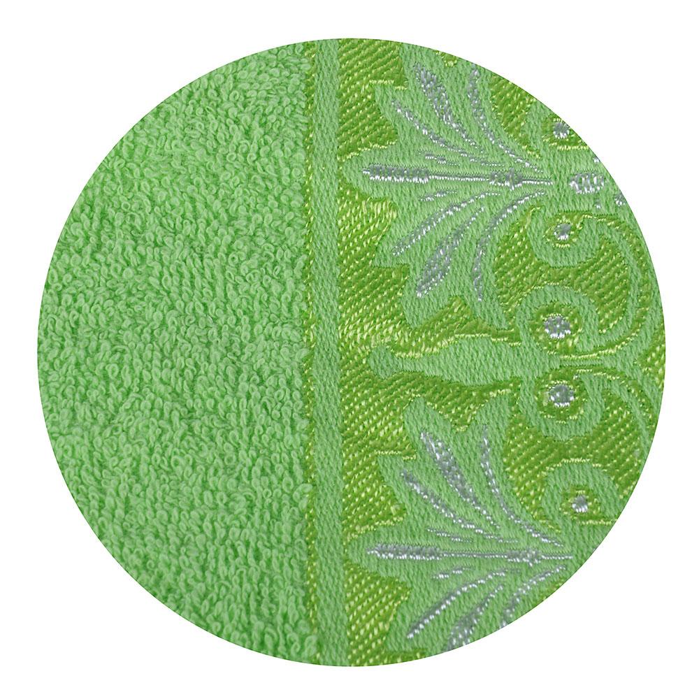 VETTA Полотенце махровое, 100% хлопок, 50х90см, Феникс зелёное