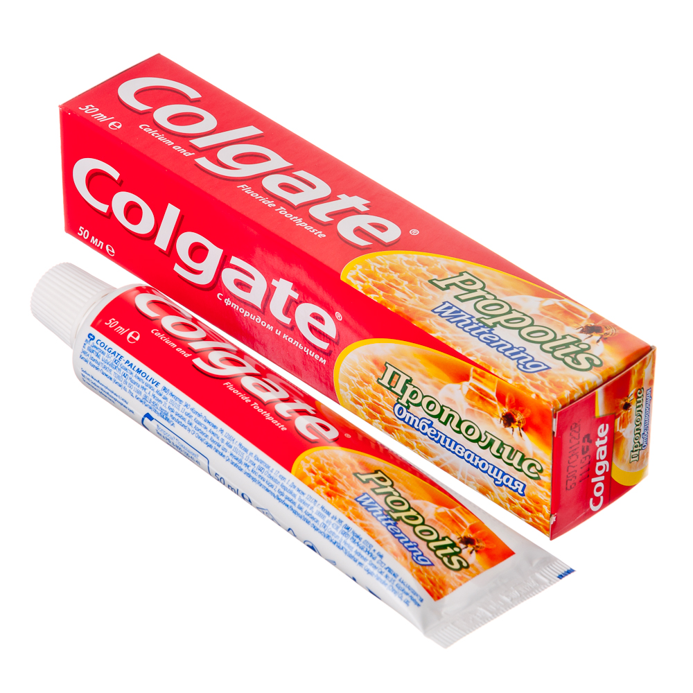 Зубная паста COLGATE Прополис отбеливающая 50мл, 188189269