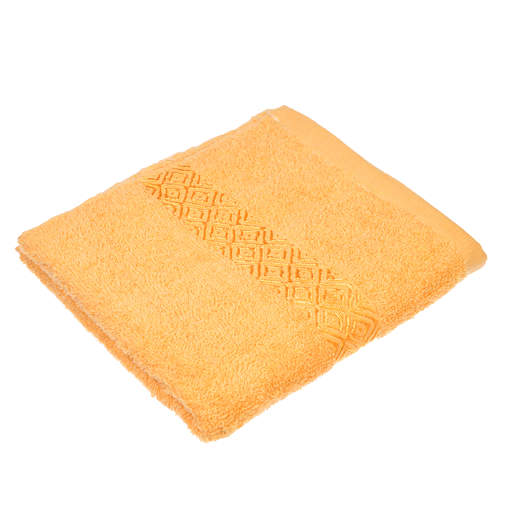 """Полотенце для лица махровое, хлопок, 50х100см, бежевое,""""Соты"""""""