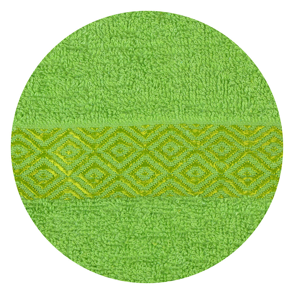 """Полотенце для лица махровое, хлопок, 50х100см, зеленое,""""Соты"""""""