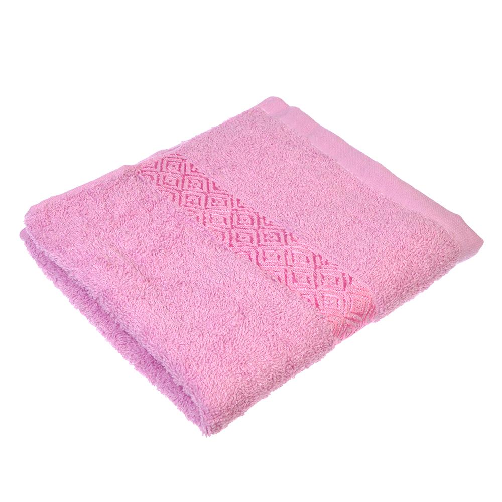 """Полотенце для лица махровое,хлопок, 50х100см, розовое,""""Соты"""""""