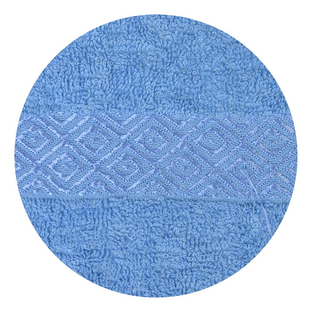 """Полотенце для лица махровое, хлопок, 50х100см, синее,""""Соты"""""""