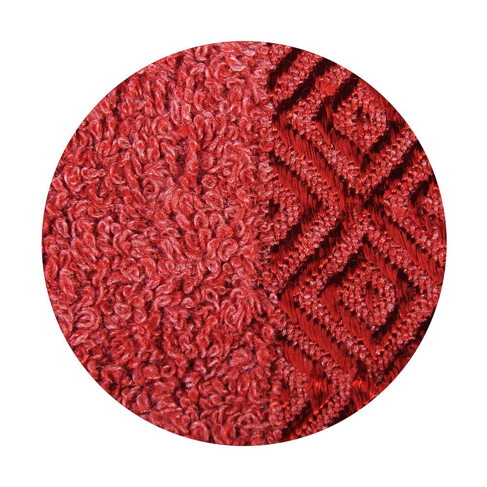 """Полотенце для лица махровое, хлопк, 50х100см, красное,""""Соты"""""""