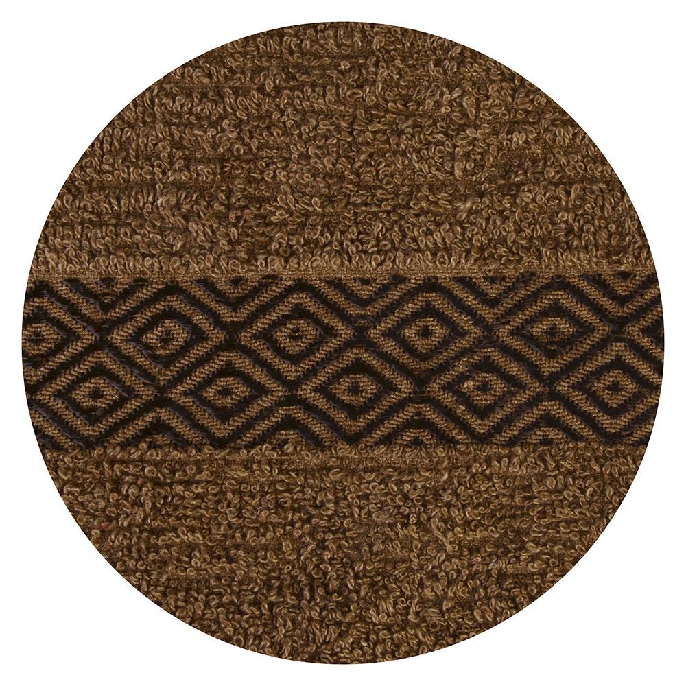 Полотенце для лица махровое коричневое 50х100см