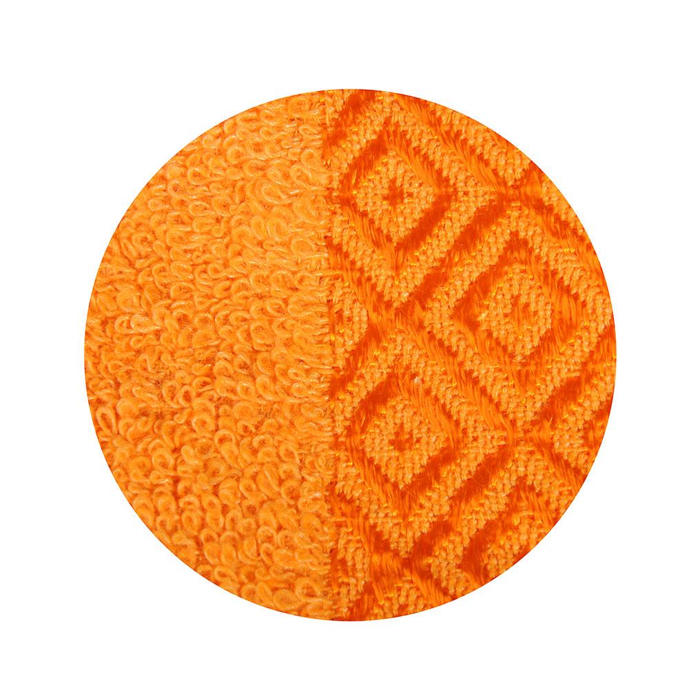 Полотенце банное махровое, 70х140см, оранжевое