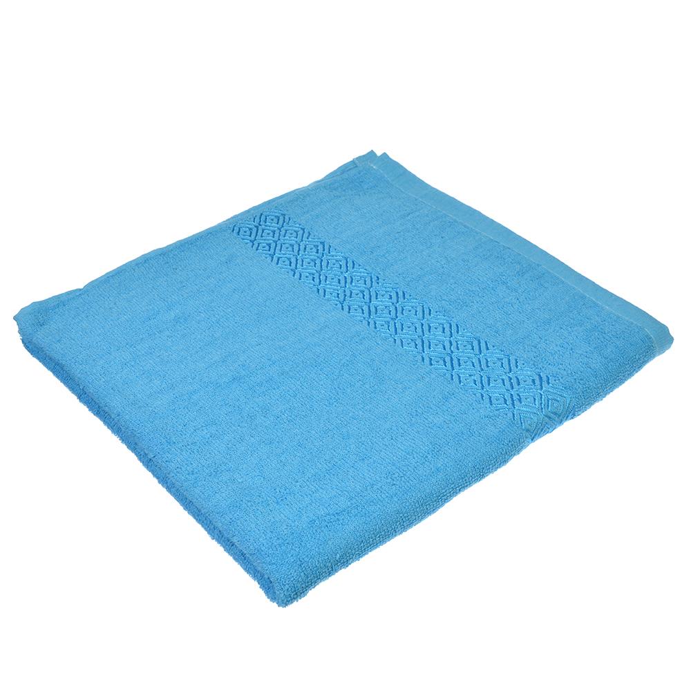 Полотенце банное махровое, 70х140см, голубое