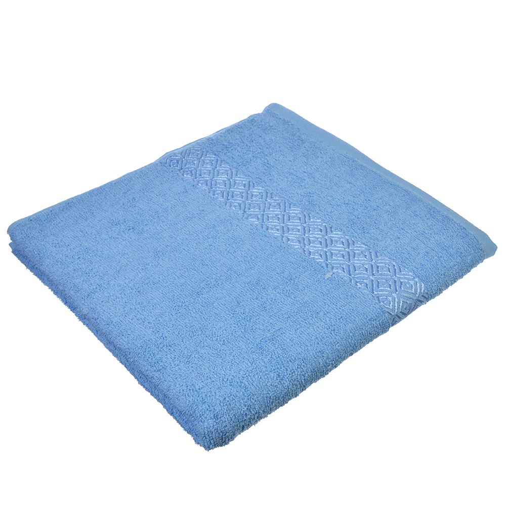 Полотенце банное махровое, 70х140см, синее