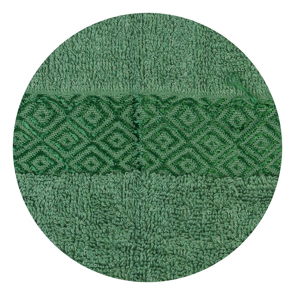 Полотенце банное махровое зеленое 70х140см