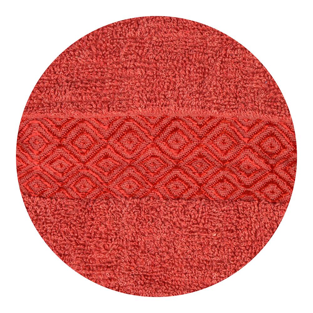 """Полотенце махровое, 100% хлопок, 70х140см, """"Соты"""", красный"""