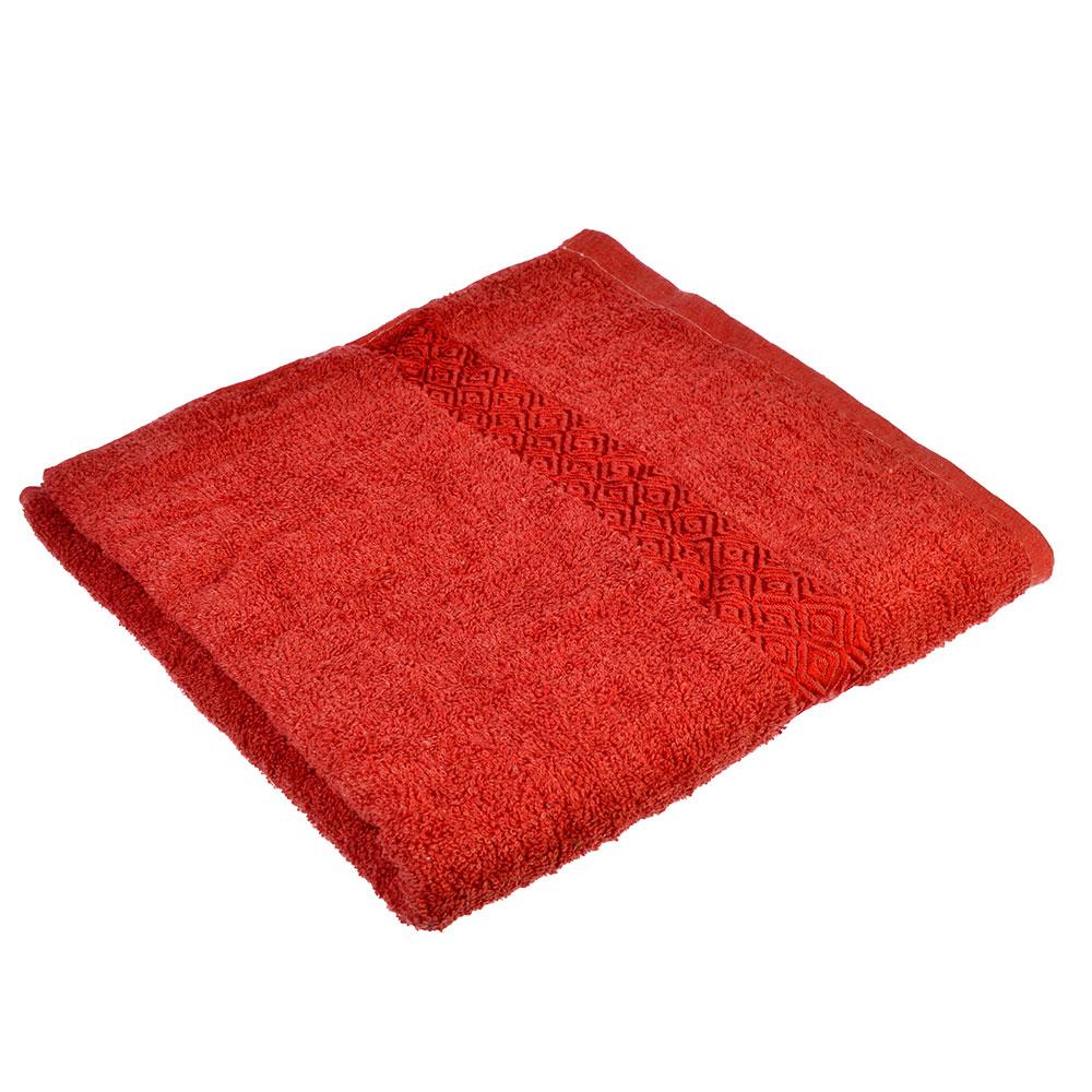 Полотенце банное махровое, 70х140см, красное