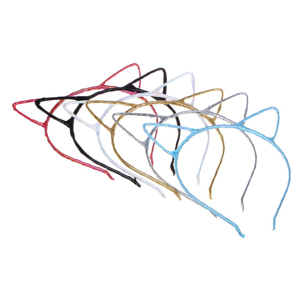 Ободок для волос, металл, полиэстер, 0,5 см, 3 цвета