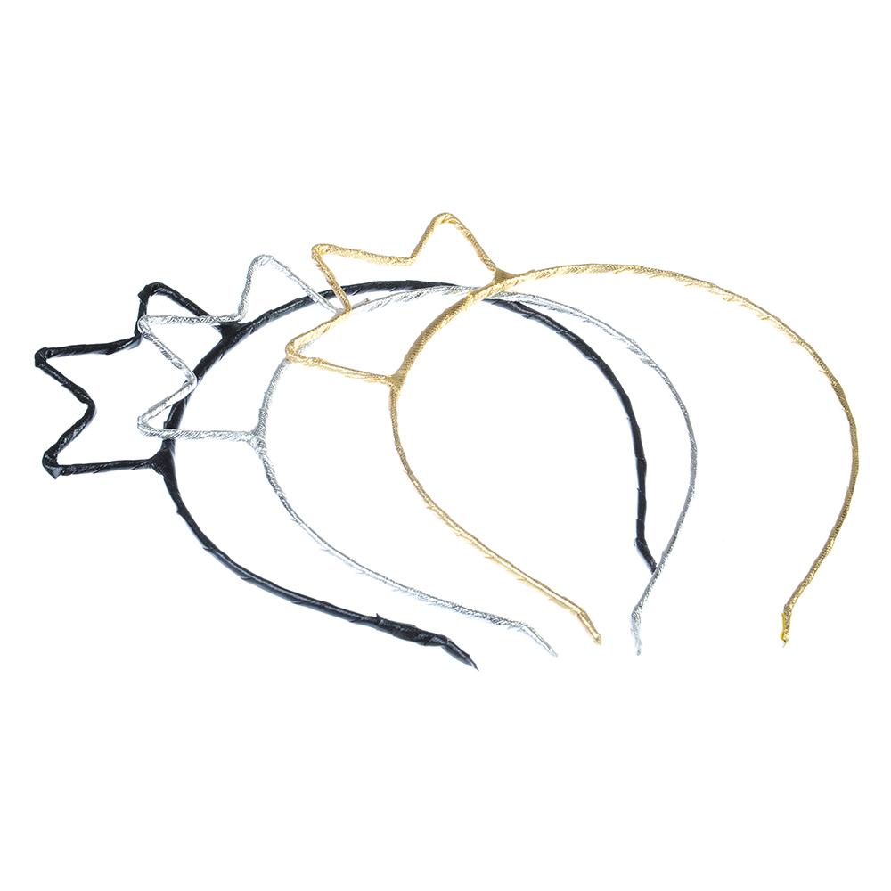 Ободок для волос, металл, полиэстер, 0,5 см, 3 цвета, #2017-10