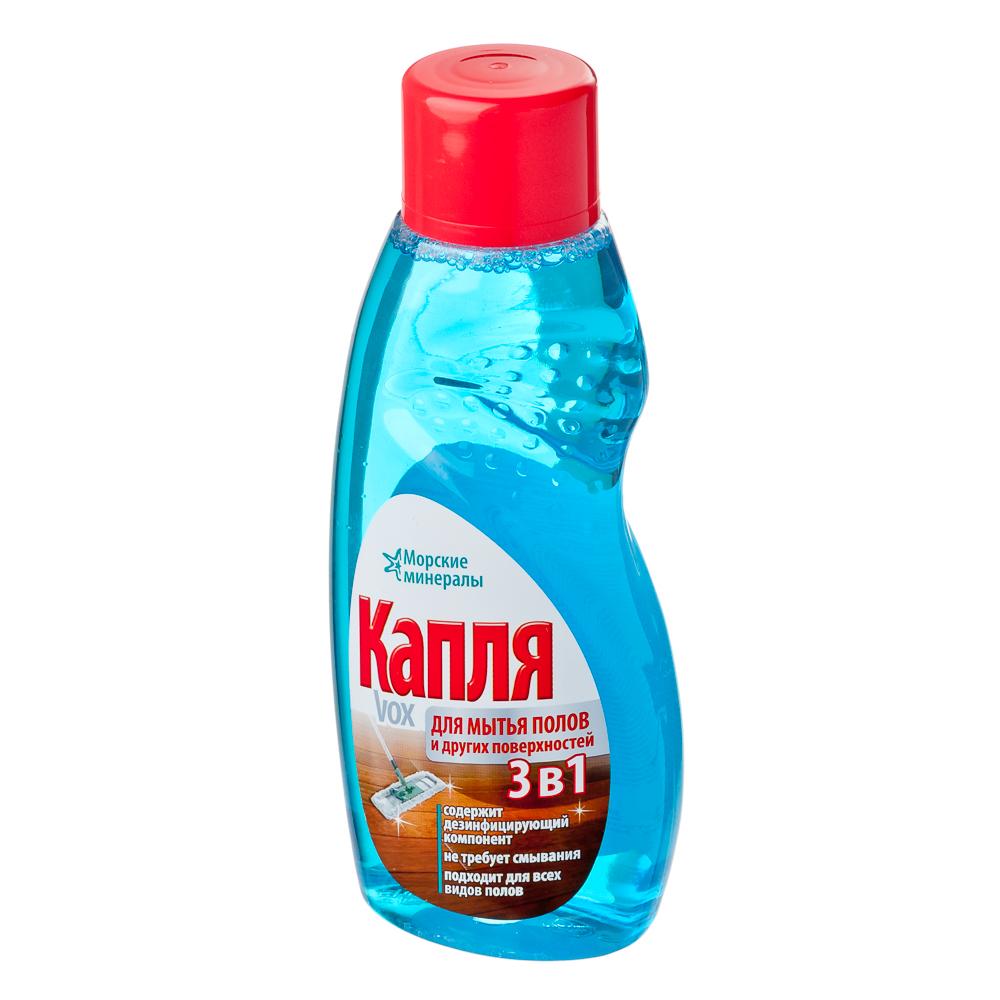 """Жидкость для мытья полов и других поверхностей """"Капля VOX"""" Морские минералы, 500г, 9055"""