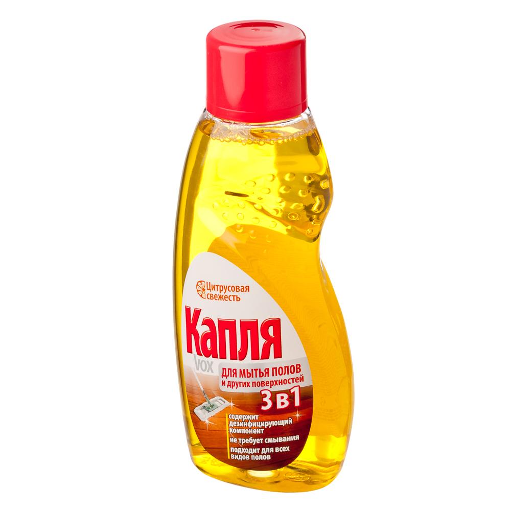"""Жидкость для мытья полов и других поверхностей """"Капля VOX"""" Цитрусовая свежесть, 500г, 9057"""