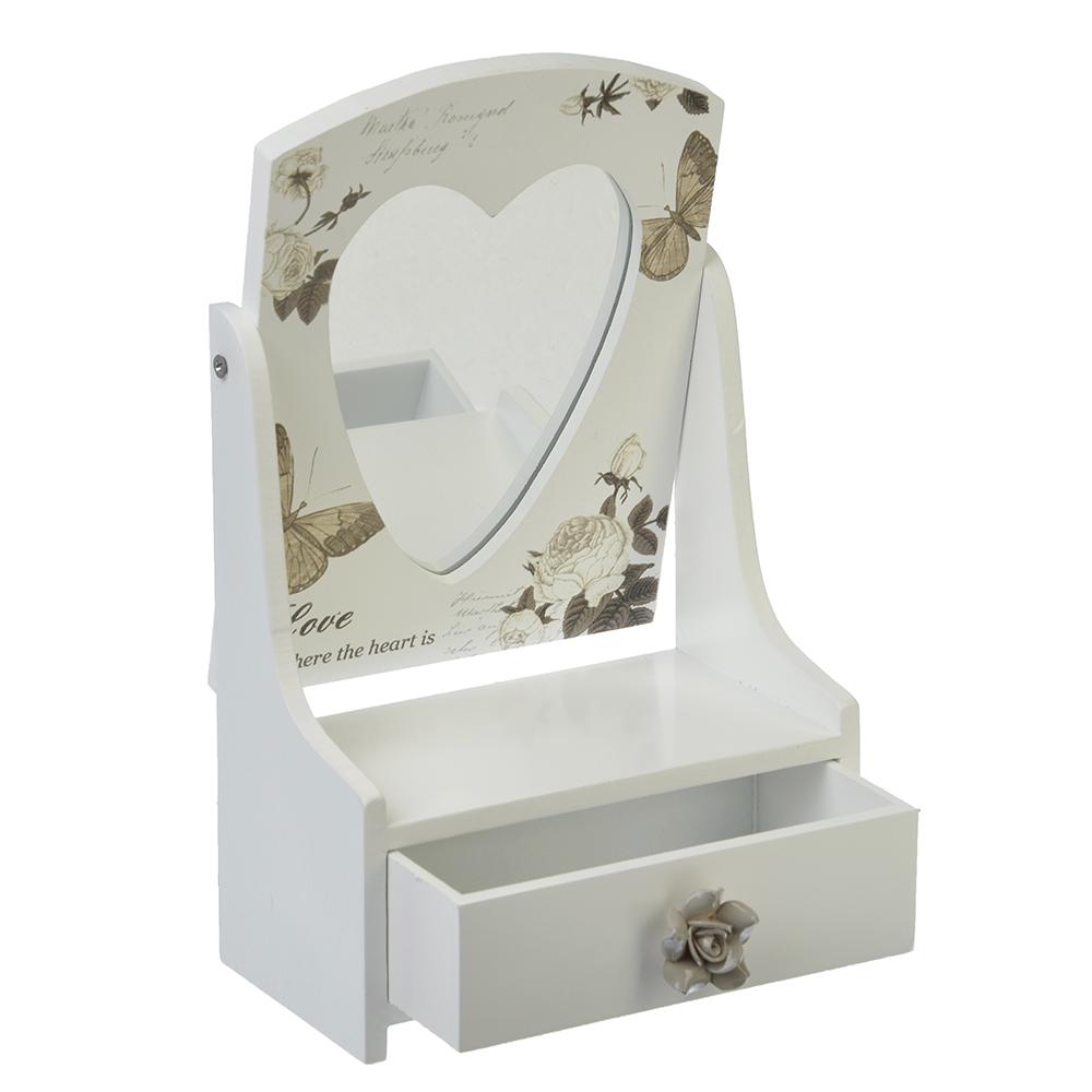 Шкатулка-трюмо для украшений с зеркалом, МДФ, 21,3х13,9х7,8, 2 дизайна