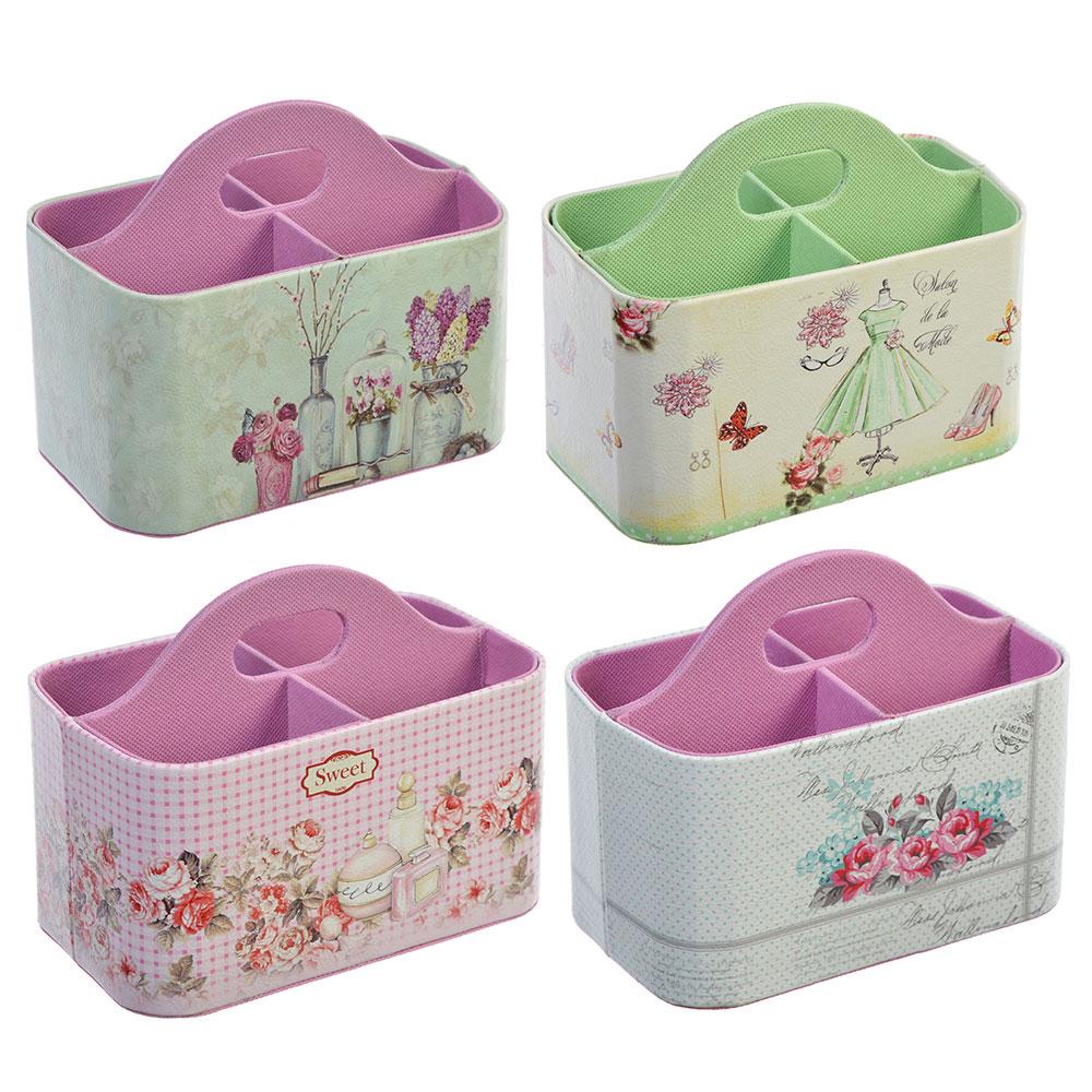 Шкатулка-ящик для мелочей, полиэстер, 18х14,5х11,5, 4 дизайна