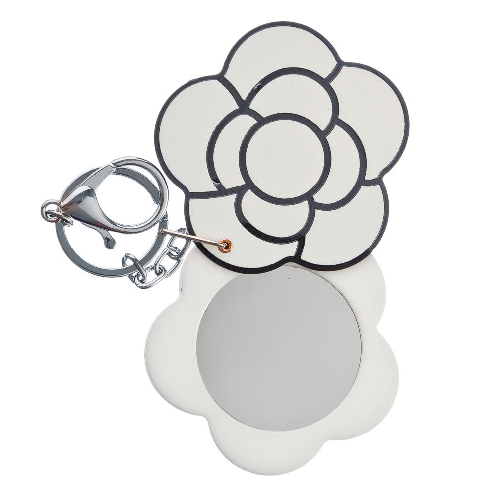 Карманное зеркало с карабином, круглое d. 6,3 см,пластик, сплав, стекло, 1 дизайн