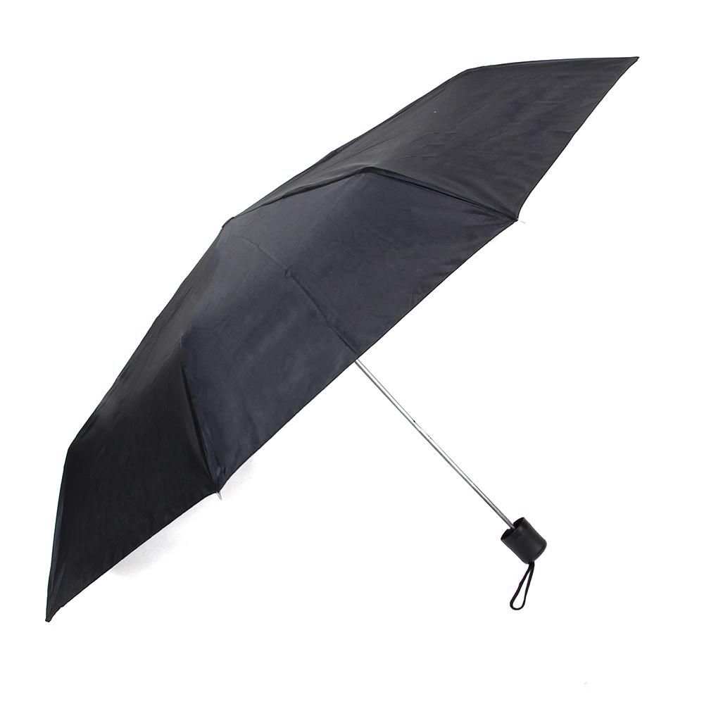 Зонт универсальный, механика, 8 спиц, 53см, металл, пластик, полиэстер, черный