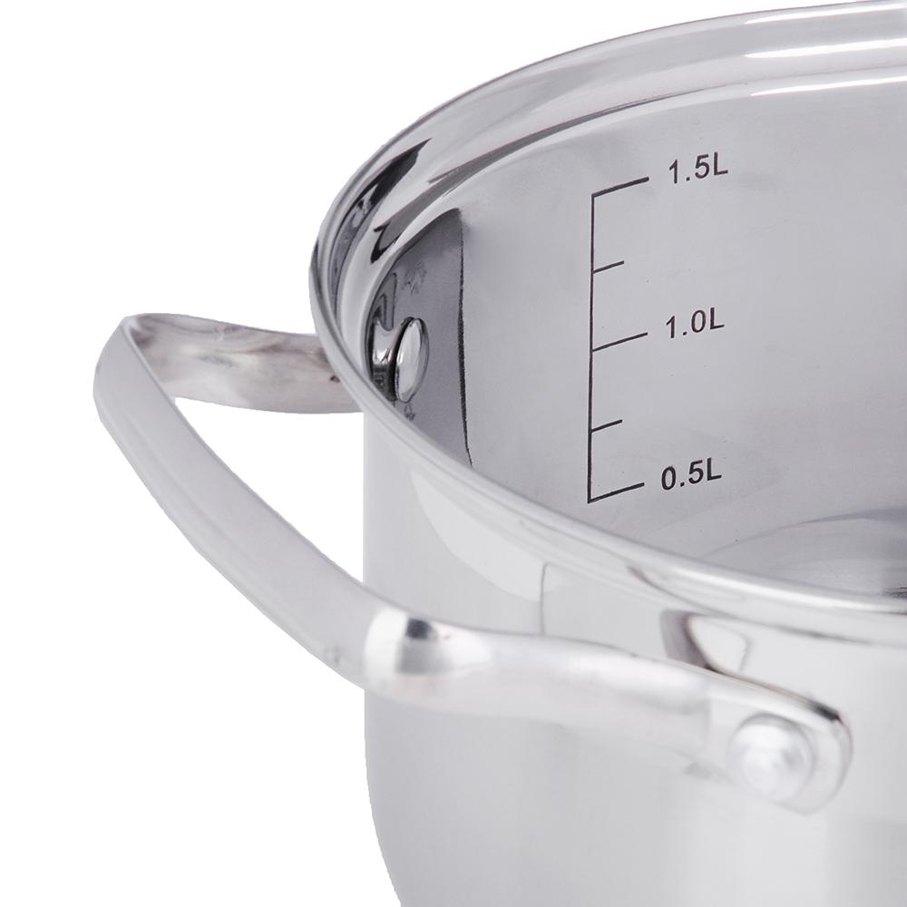 Кастрюля 1,9 л VETTA Берн, со стеклянной крышкой, индукция