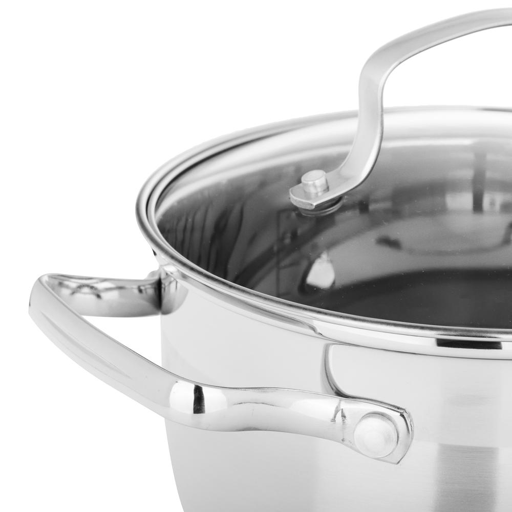 Кастрюля 2,6 л VETTA Берн, со стеклянной крышкой, индукция