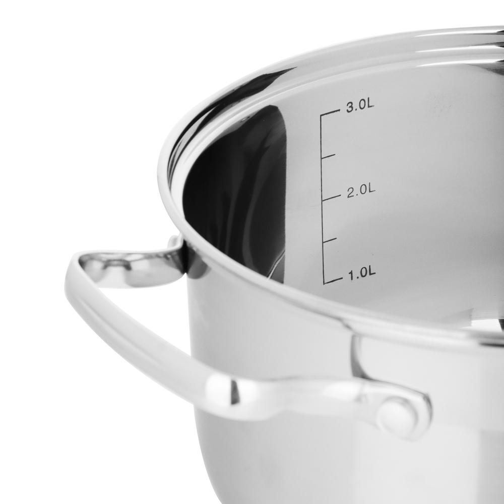 Кастрюля 3,5 л VETTA Берн, со стеклянной крышкой, индукция